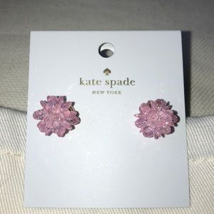NWT-Kate spade pink cluster studs with gold back